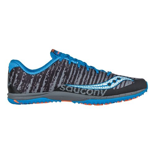 Mens Saucony Kilkenny XC Flat Cross Country Shoe - Black/Blue 6.5