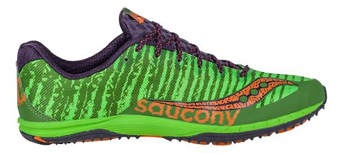 Mens Saucony Kilkenny XC Flat Cross Country Shoe - Green/Orange 6.5