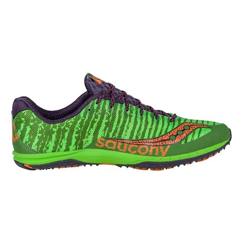 Mens Saucony Kilkenny XC Flat Cross Country Shoe - Green/Orange 8.5