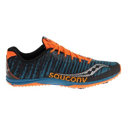 Mens Saucony Kilkenny XC Flat Cross Country Shoe - Royal/Orange 7.5