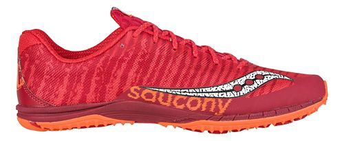 Mens Saucony Kilkenny XC Flat Cross Country Shoe - Red/Orange 4