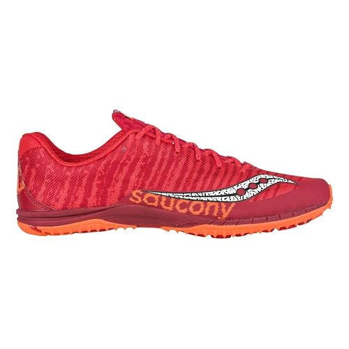 Mens Saucony Kilkenny XC Flat Cross Country Shoe - Red/Orange 6