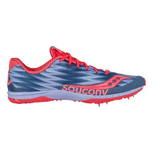 Womens Saucony Kilkenny XC Flat Cross Country Shoe - Blue/White/Silver 7.5