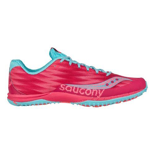 Womens Saucony Kilkenny XC Flat Cross Country Shoe - Berry/Light Blue 6.5