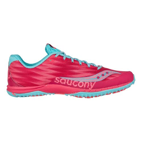 Womens Saucony Kilkenny XC Flat Cross Country Shoe - Berry/Light Blue 7