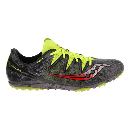 Mens Saucony Carrera XC Flat Cross Country Shoe - Grey/Citron 8.5