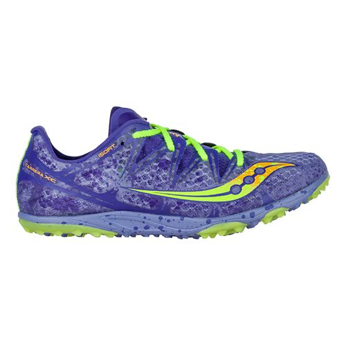 Womens Saucony Carrera XC Flat Cross Country Shoe - Blue/Citron 9.5
