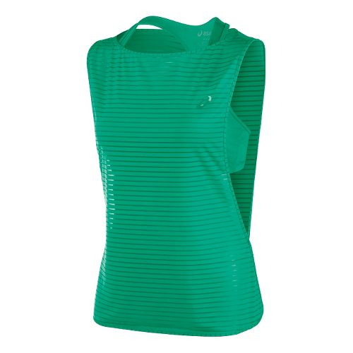 Womens ASICS Cleo Pop Double Tank Sport Top Bras - Cool Mint S