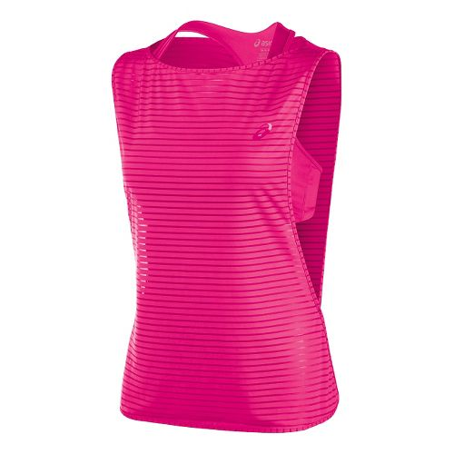 Womens ASICS Cleo Pop Double Tank Sport Top Bras - Ultra Pink S