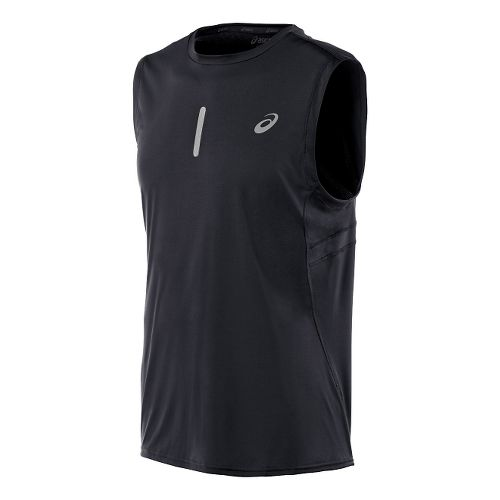 Mens ASICS Performance Run Sleeveless Technical Tops - Jungle Green S