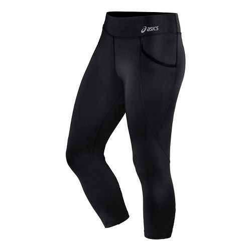 Womens ASICS Cleo Pop Capri Tights - Performance Black L