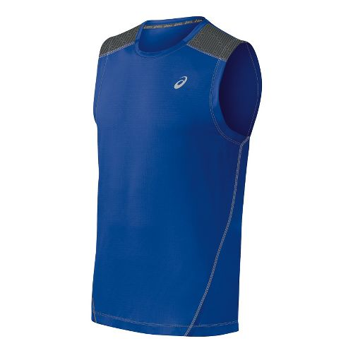 Mens ASICS PR Lyte Sleeveless Technical Tops - Airforce Blue/Steel L