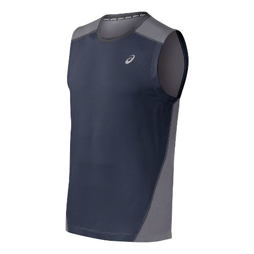 Mens ASICS PR Lyte Sleeveless Technical Tops - Dark Cobalt/Frost XXL