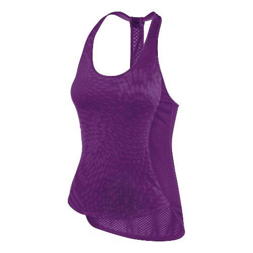 Womens ASICS Flex Tank Technical Tops - Purple Magic M