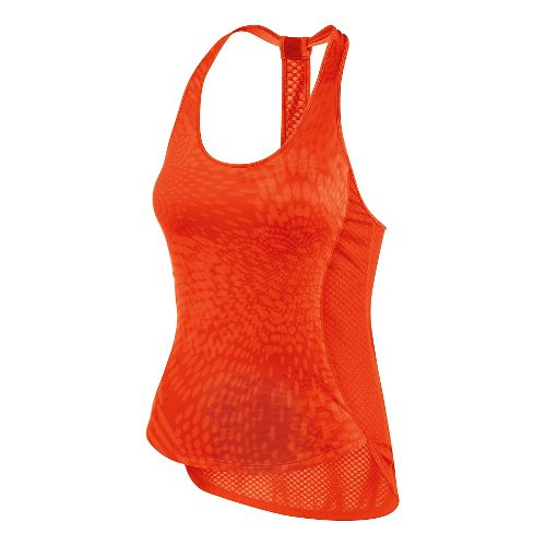 Womens ASICS Flex Tank Technical Tops - Cherry Tomato XL