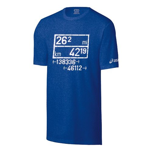 Mens ASICS Equation Tech Tee Short Sleeve Technical Tops - Air Force Blue M