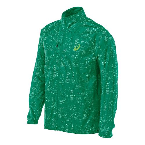 Mens ASICS Lightweight Jackets - Skyline Green L