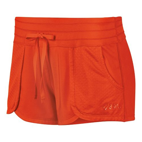 Womens ASICS Flex Unlined Shorts - Cherry Tomato XL