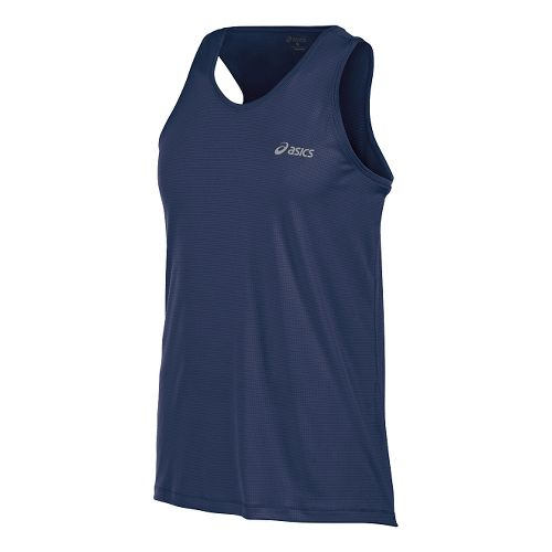 Mens ASICS Singlet Sleeveless & Tank Tops Technical Tops - Indigo Blue S