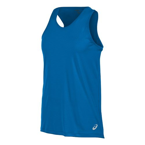 Mens ASICS Singlet Sleeveless & Tank Tops Technical Tops - Fiery Flame L