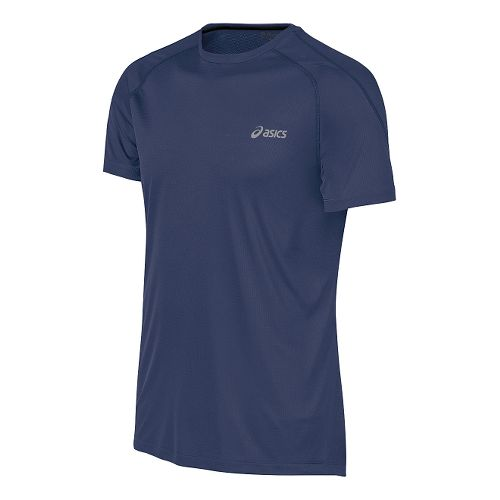 Mens ASICS Tee Short Sleeve Technical Tops - Indigo Blue S