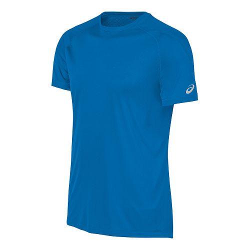 Mens ASICS Performance Run Tee Short Sleeve Technical Tops - Blue XL