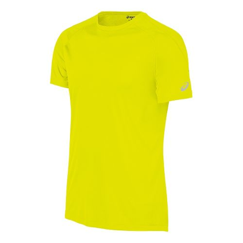 Mens ASICS Tee Short Sleeve Technical Tops - Safety Yellow M
