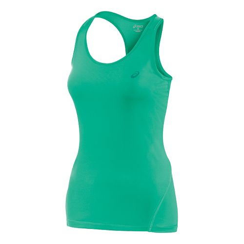 Womens ASICS Train Racerback Tank Technical Tops - Cool Mint L