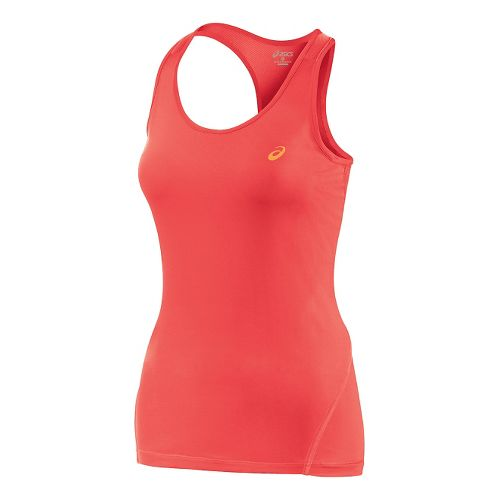 Womens ASICS Train Racerback Tank Technical Tops - Coralicious L
