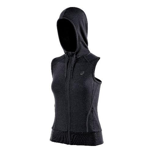 Womens ASICS Racerback Hoodie Running Vests - Heather Grey XS