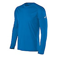 Mens ASICS Performance Run Crew Long Sleeve Technical Tops