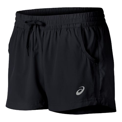 Womens ASICS Train Woven Lined Shorts - Performance Black XL