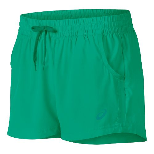 Womens ASICS Train Woven Lined Shorts - Cool Mint L