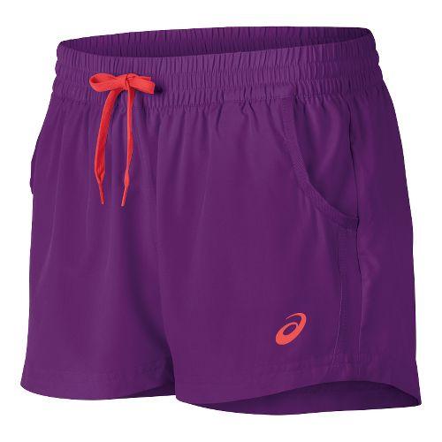 Womens ASICS Train Woven Lined Shorts - Purple Magic M