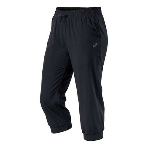 Womens ASICS Styled Woven Capri Pants - Performance Black XL