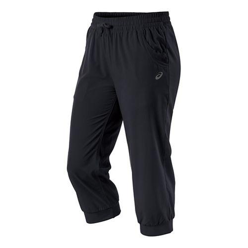 Womens ASICS Styled Woven Capri Pants - Performance Black XS