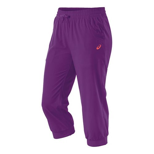 Womens ASICS Styled Woven Capri Pants - Purple Magic XL