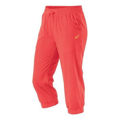 Womens ASICS Styled Woven Capri Pants - Coralicious L