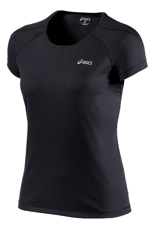 Womens ASICS Short Sleeve Technical Tops - Performance Black L