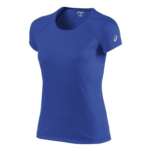 Womens ASICS Short Sleeve Technical Tops - Royal Blue XL