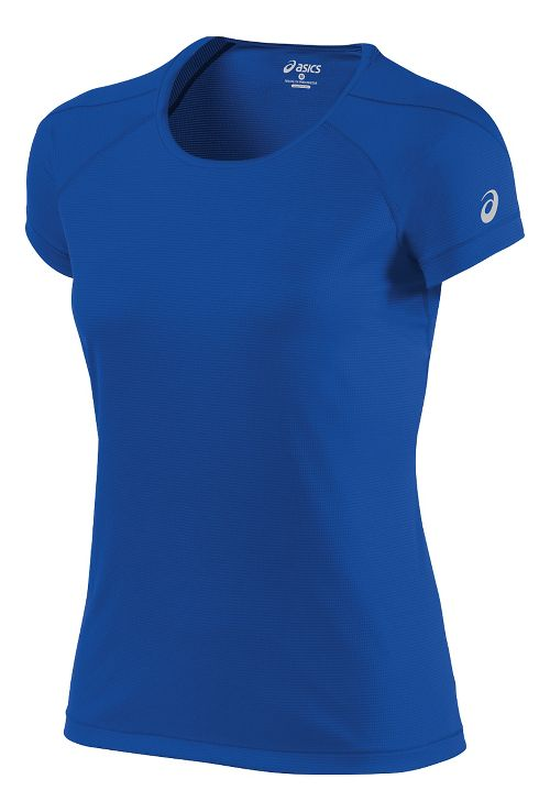 Womens ASICS Short Sleeve Technical Tops - New Blue M