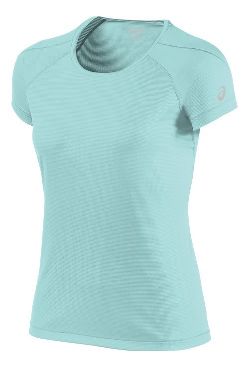 Womens ASICS Short Sleeve Technical Tops - Aqua Splash S