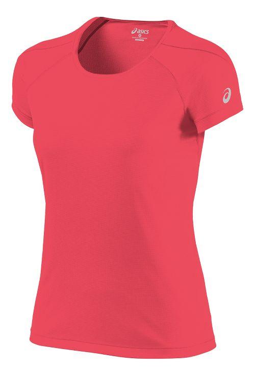 Womens ASICS Short Sleeve Technical Tops - Diva Pink XL