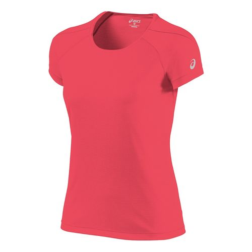 Womens ASICS Short Sleeve Technical Tops - Diva Pink L