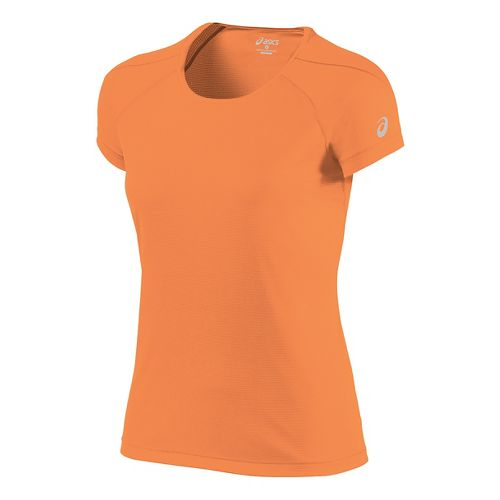 Womens ASICS Short Sleeve Technical Tops - Melon M