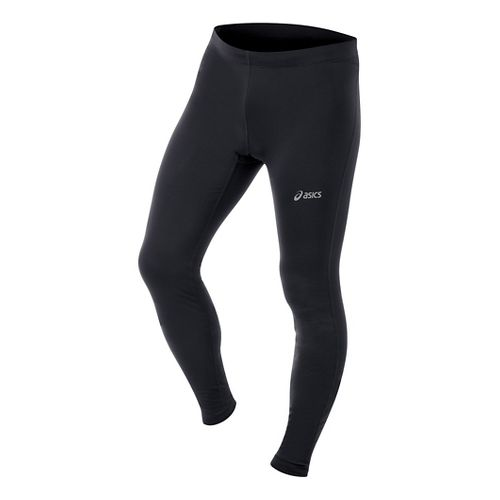 Mens ASICS Performance Run Essentials Full Length Tights - Black L-T