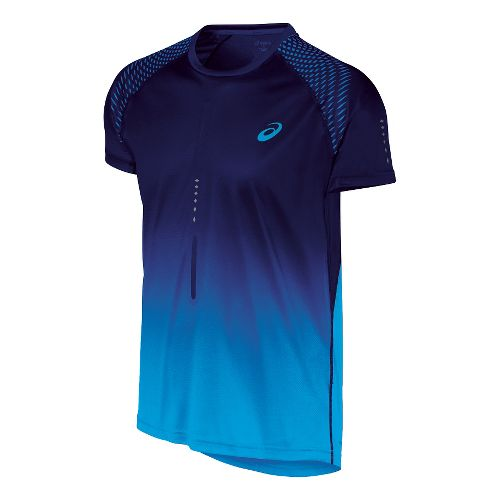 Mens ASICS Speed 1 Short Sleeve Technical Tops - Air Force Blue L