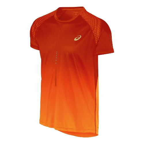Mens ASICS Speed 1 Short Sleeve Technical Tops - Shocking Orange XL