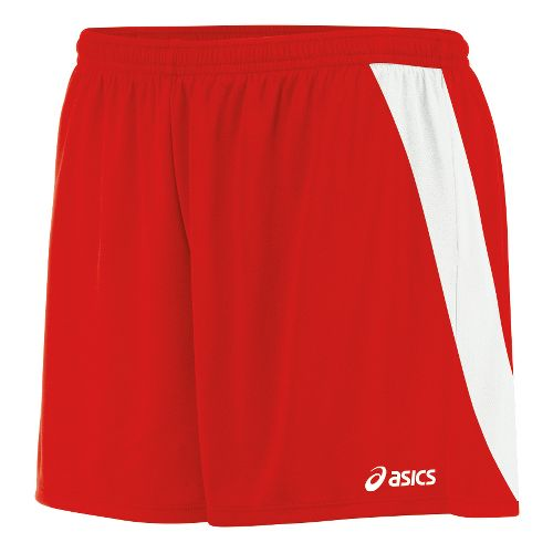 Womens ASICS Break Through Unlined Shorts - Red/White L