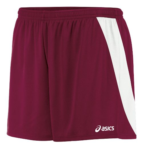 Womens ASICS Break Through Unlined Shorts - Cardinal/White L